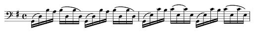 Thème de la première suite de bach