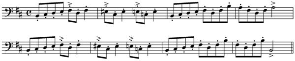 Thème du dernier mouvement de la première suite