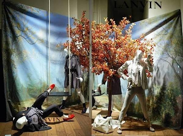 vitrines boutique Lanvin rue du faubourg saint honoré