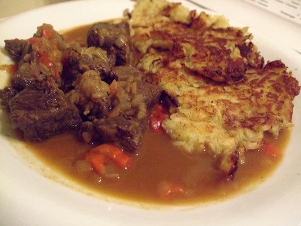 Galettes polonaises et goulasch redingote for Cuisine polonaise